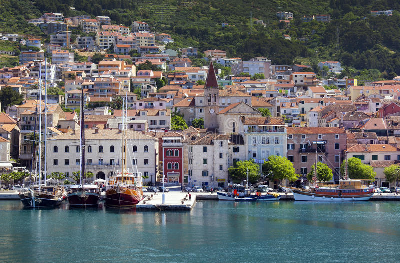 Cidade Makarska fotografia de stock