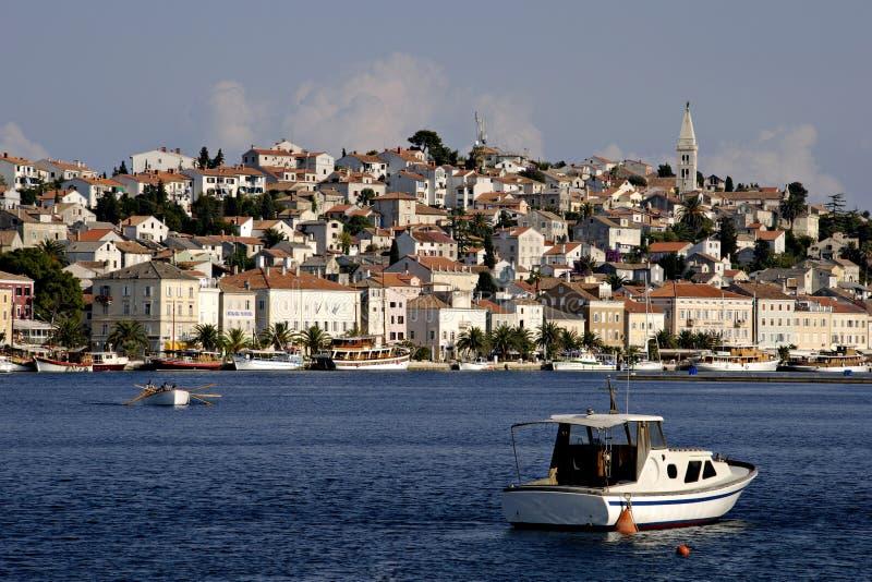 Cidade Mali Losinj, Croatia fotografia de stock