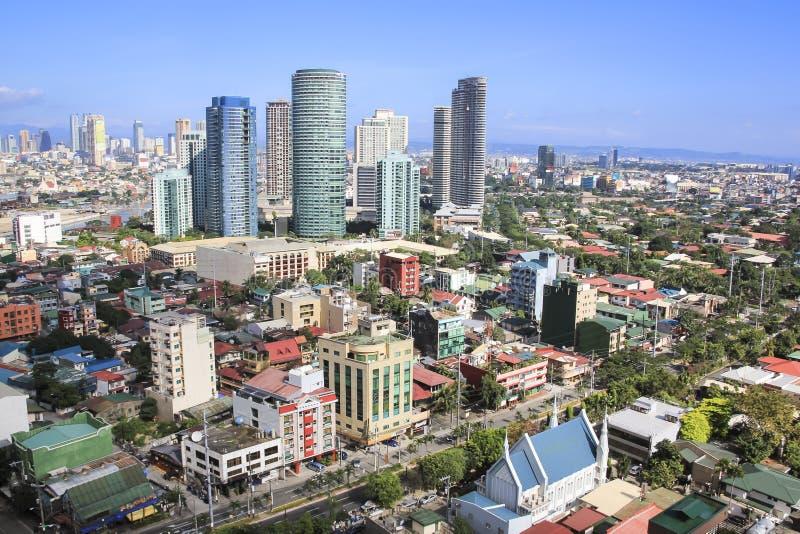 Cidade manila Filipinas do makati da skyline de Rockwell imagem de stock