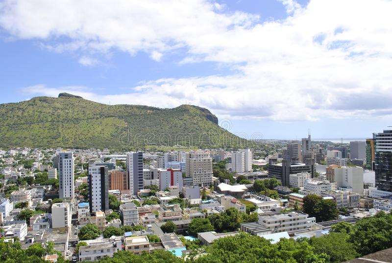 A cidade, Maurícias imagens de stock