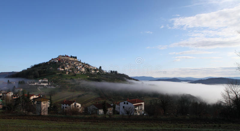 Cidade medieval de Motovun fotos de stock