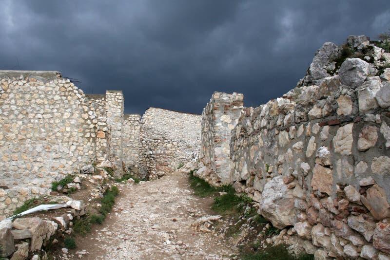 Cidade medieval de Rasnov fotos de stock