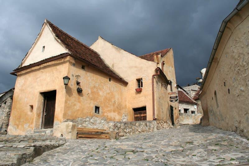 Cidade medieval de Rasnov foto de stock royalty free