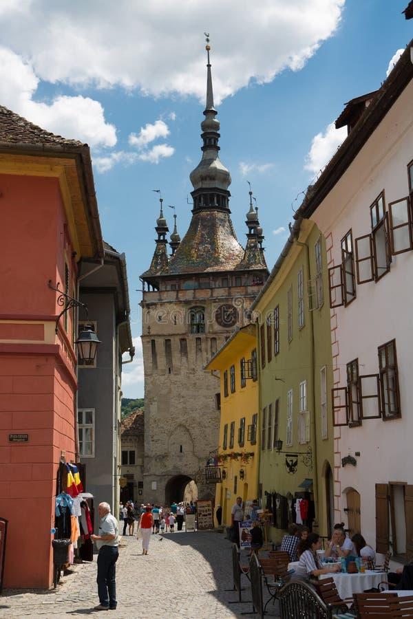 Cidade medieval do sighisoara imagens de stock royalty free