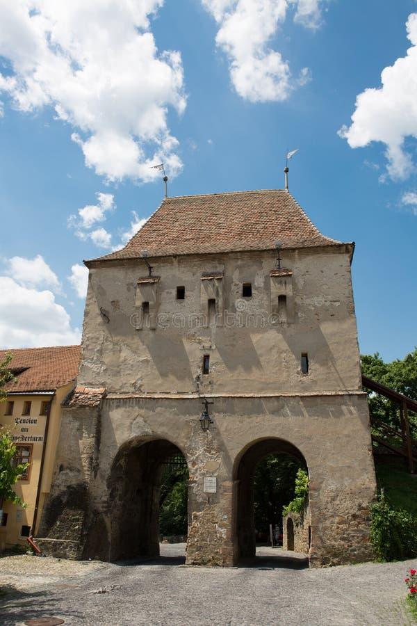 Cidade medieval do sighisoara imagem de stock
