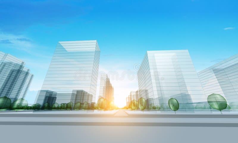 Cidade moderna ilustração royalty free