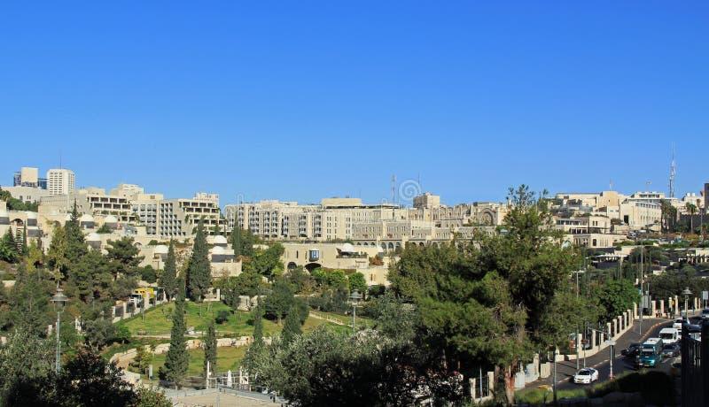 Cidade moderna do Jerusalém em Israel imagem de stock royalty free