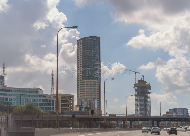 Cidade moderna do Médio Oriente Tel Aviv, a capital de Israel Constru??o de constru??es altas Arquitetura moderna fotos de stock