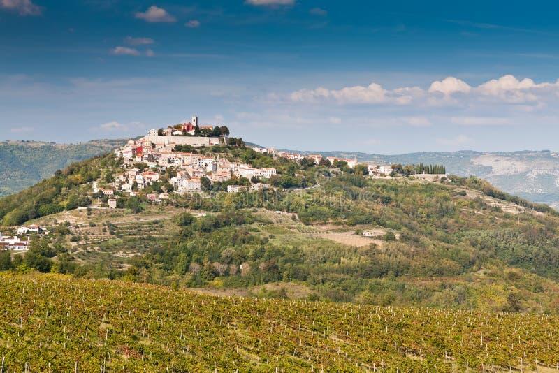 Cidade Motovun, Istria, Croatia imagem de stock