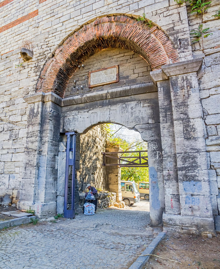 A cidade mura Istambul imagens de stock royalty free