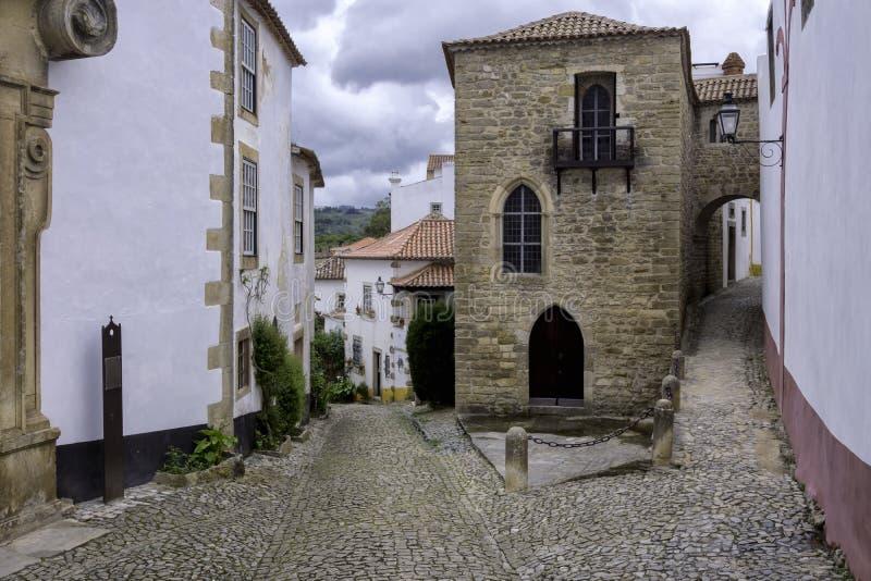Cidade murada, Portugal fotos de stock