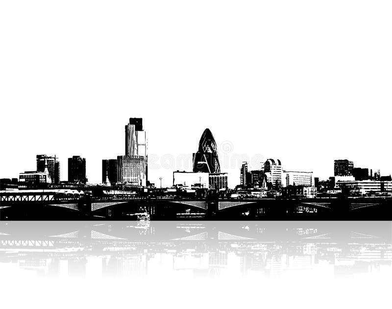 Cidade no beira-rio. Vetor ilustração do vetor