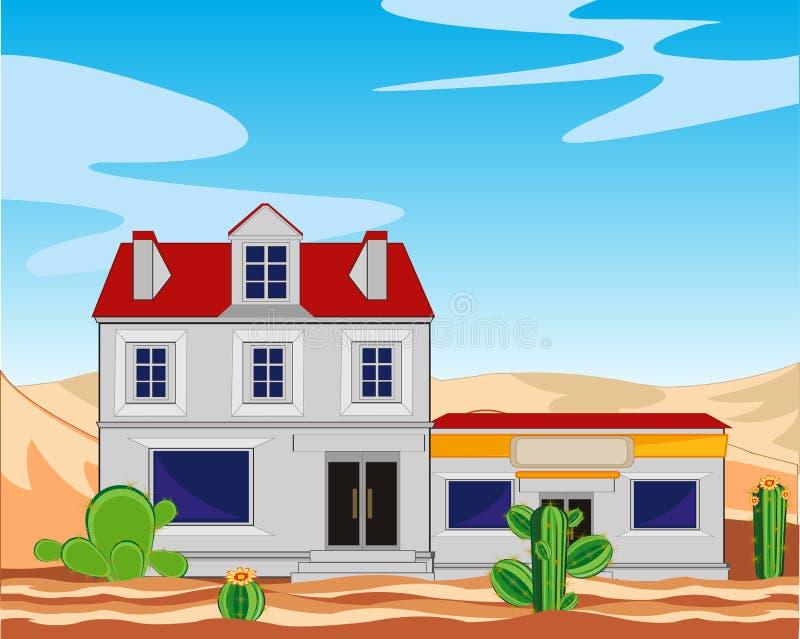 Cidade no deserto ilustração do vetor