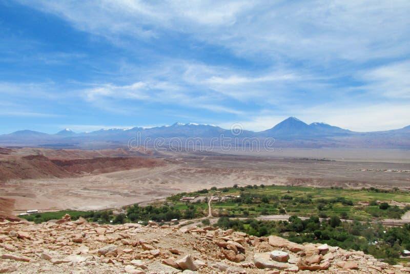 Cidade no deserto de Atacama imagem de stock