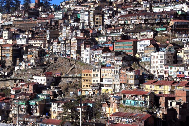 Cidade no montanhês foto de stock