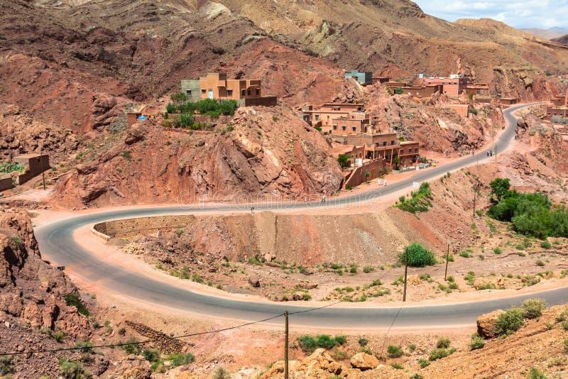 Cidade no vale de Dades, Marrocos imagens de stock royalty free