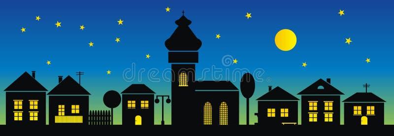 Cidade, noite ilustração stock