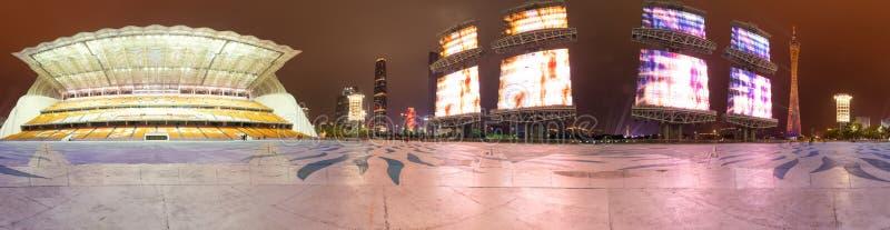 Cidade nova de Guangzhou Zhujiang fotos de stock