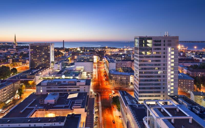Cidade nova de Tallinn, Estônia fotografia de stock royalty free