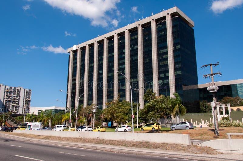 Cidade Nova district in Rio de Janeiro with the City Hall building royalty free stock photos