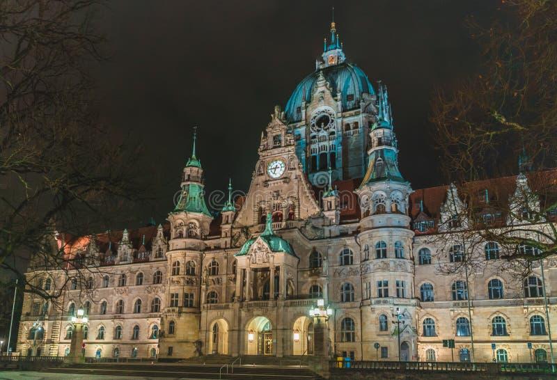 Cidade nova Hall Hanover imagens de stock royalty free