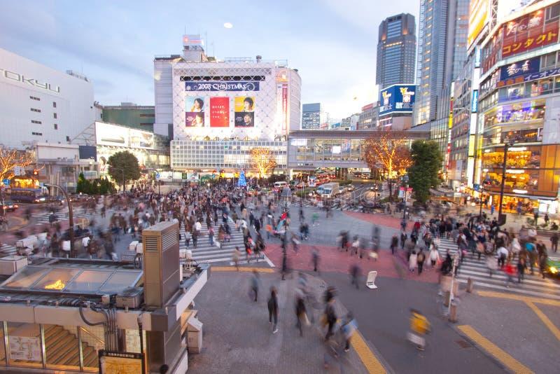 Cidade ocupada em Tokyo Japão imagens de stock
