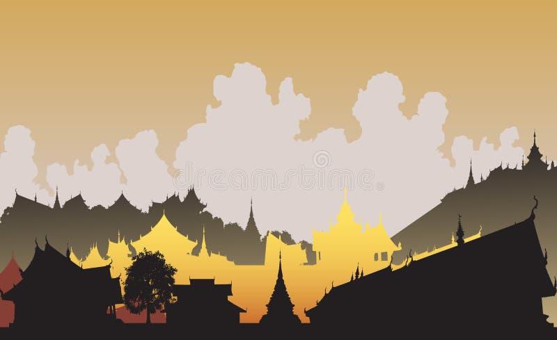 Cidade oriental ilustração do vetor