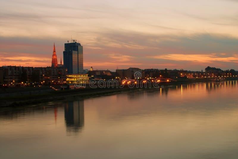 Cidade Osijek imagens de stock royalty free