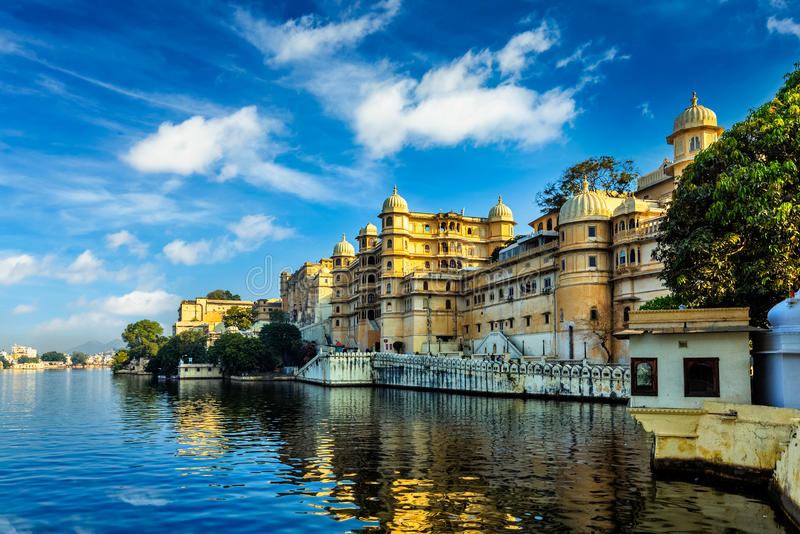 Cidade Palace Udaipur, India fotografia de stock royalty free