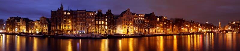 Cidade panorâmico cénico dos Países Baixos de Amsterdão fotos de stock royalty free