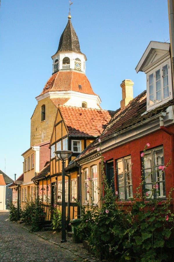 A cidade pequena de Faaborg fotografia de stock royalty free