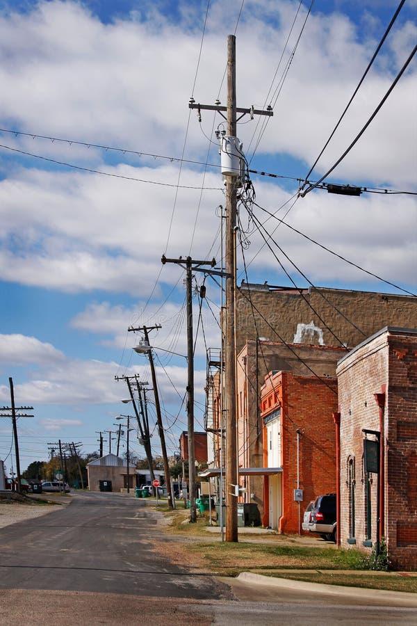 Cidade pequena do vintage foto de stock royalty free