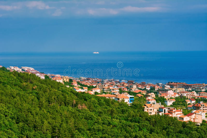 Cidade pequena em Bulgária imagens de stock royalty free