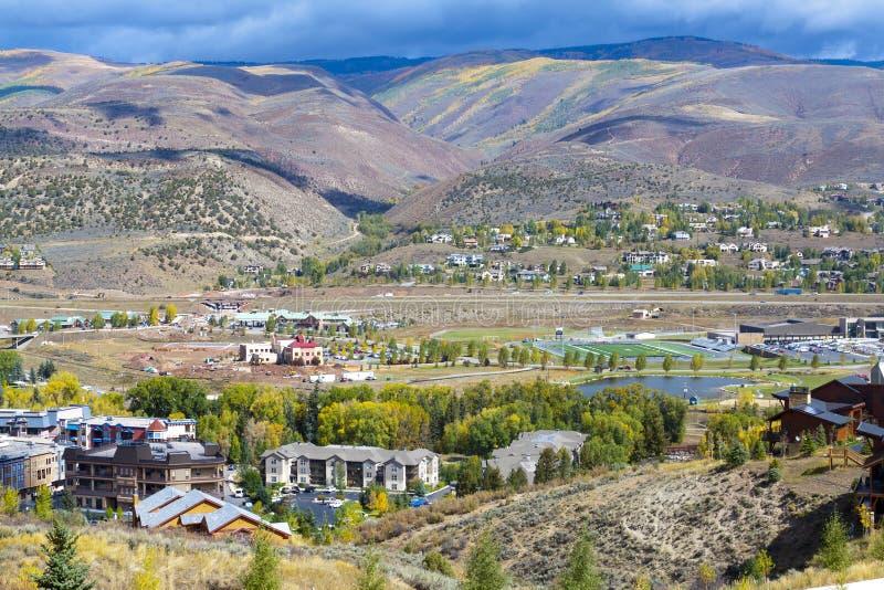 Cidade pequena em Colorado fotos de stock royalty free