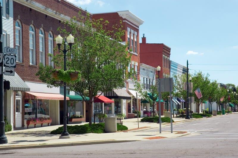 Cidade pequena EUA fotografia de stock