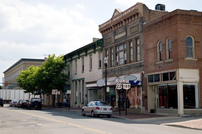 Cidade pequena EUA fotografia de stock royalty free