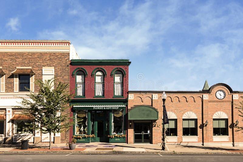 Cidade pequena Main Street fotografia de stock royalty free