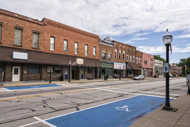 Cidade pequena Main Street imagem de stock