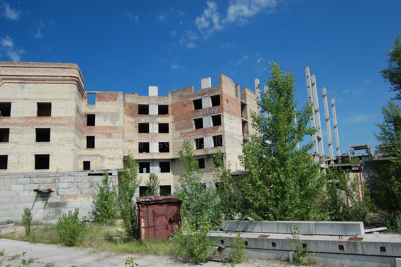 Cidade perdida. Área de Chernobyl. fotos de stock royalty free