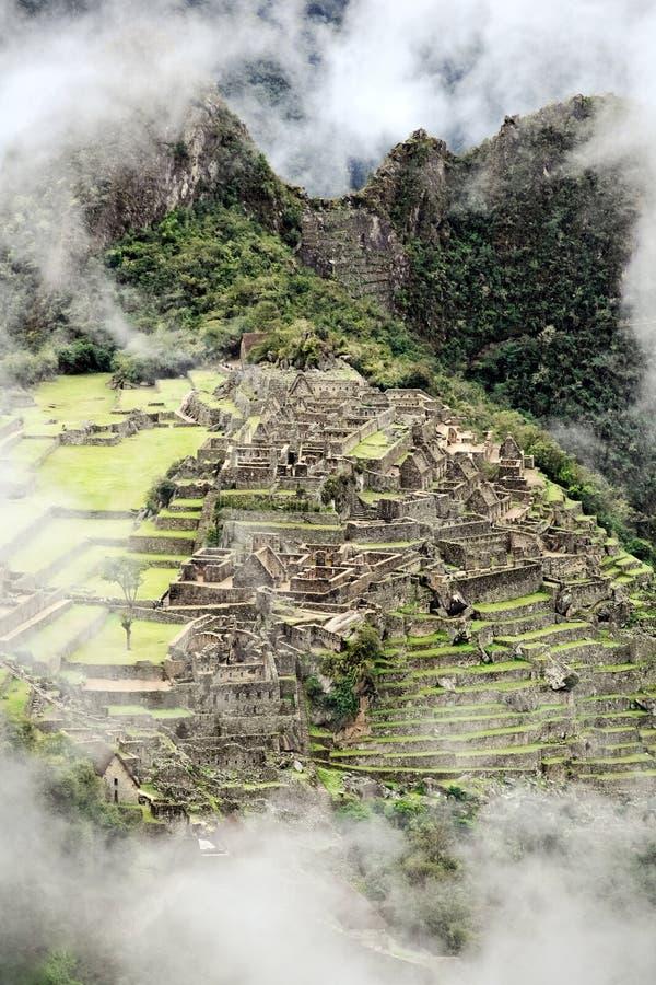 Cidade perdida de Machu Picchu - Peru imagem de stock royalty free