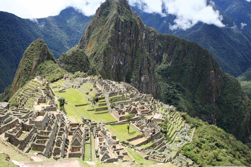 Cidade perdida de Machu Picchu - Peru imagem de stock
