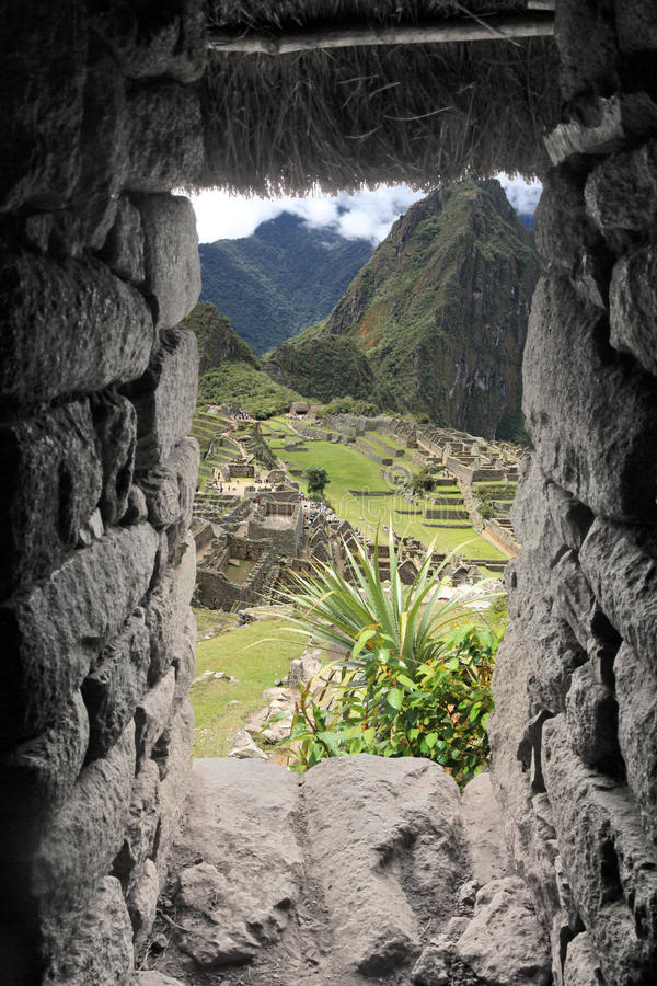 Cidade perdida de Machu Picchu - Peru foto de stock royalty free