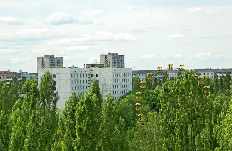 Cidade perdida e abandonada Pripyat foto de stock