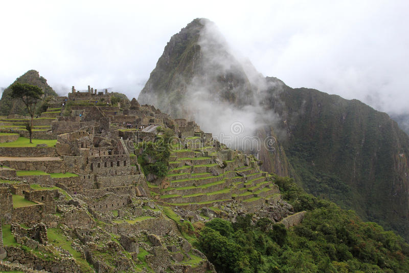 A cidade perdida Machu Picchu imagem de stock