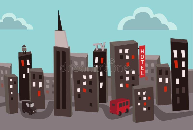 Cidade poluída imagem de stock