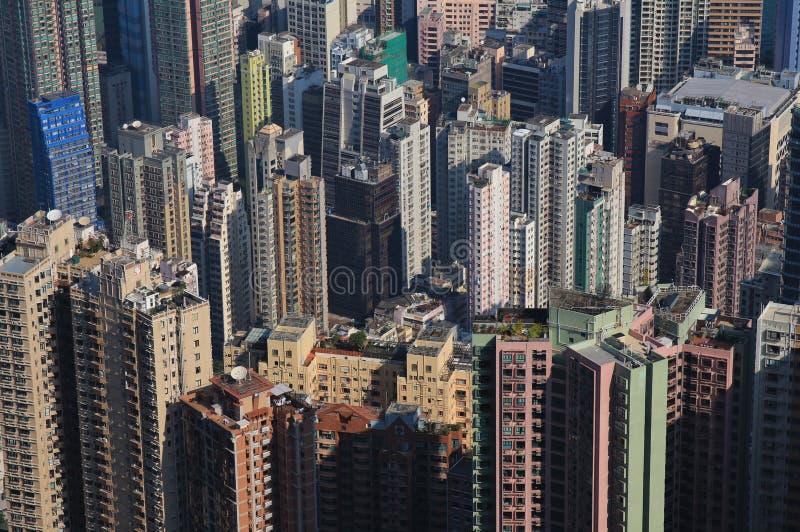 Cidade povoada densa Hong Kong imagem de stock royalty free
