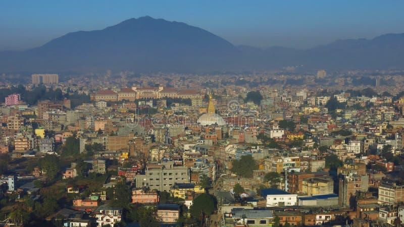 Cidade povoada densa Kathmandu fotografia de stock royalty free