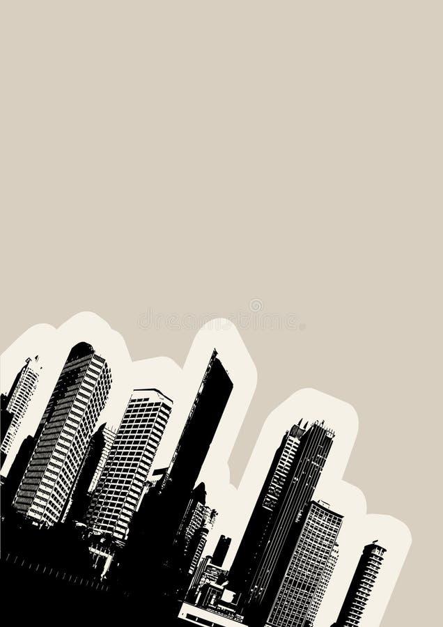 Cidade preta no canto. Vetor ilustração do vetor