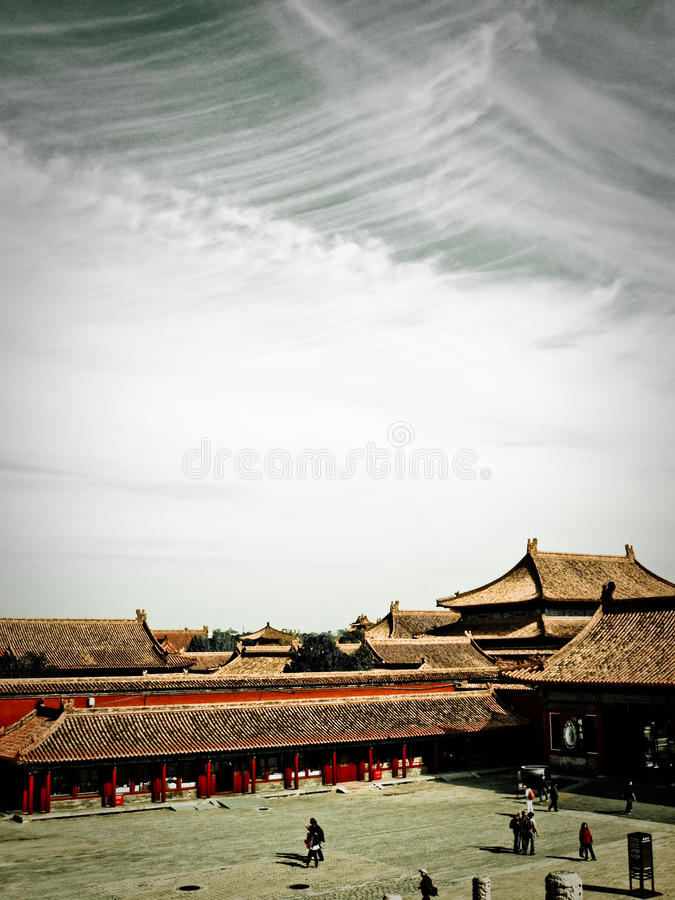 Cidade proibida Beijing fotografia de stock