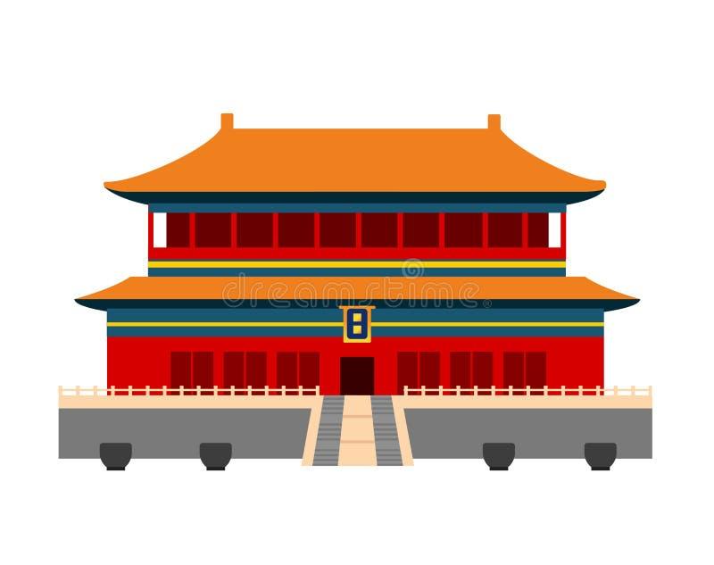 Cidade proibida em Beijing, China ilustração stock